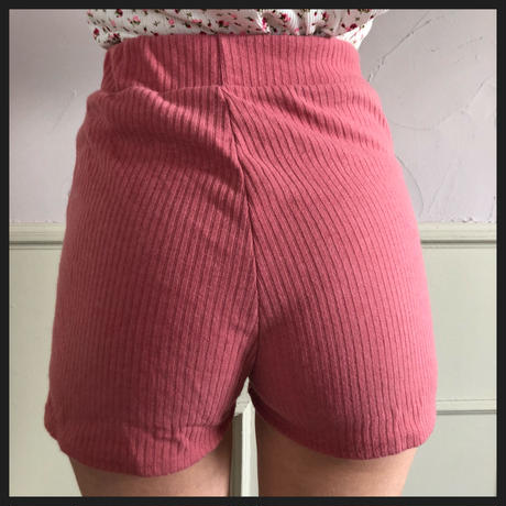 lib summer knit short pants pink