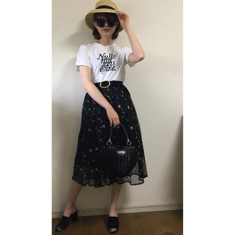 flower design tulle skirt