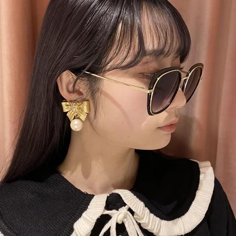 ribbon pearl vintage earring