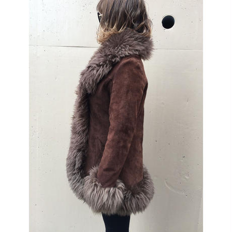 mouton coat mocha blown