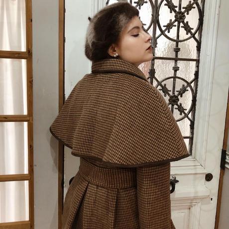 mohair fur béret brown