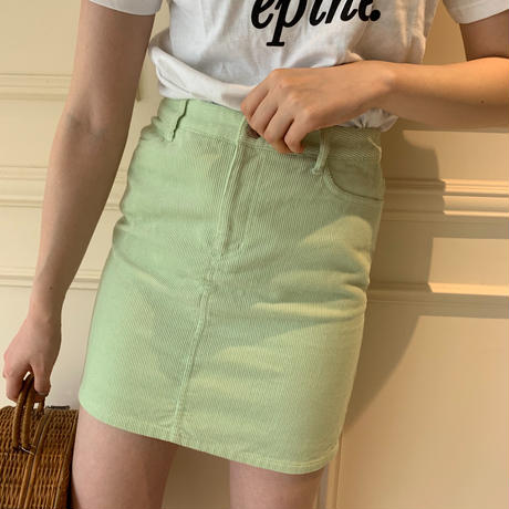 courrèges logo corduroy mini skirt(No.3683)