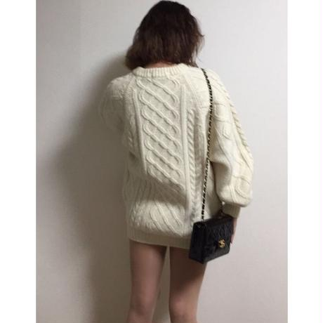 cable knit ivory
