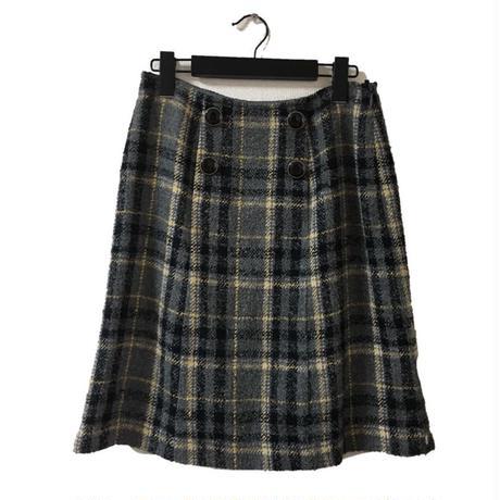 ELLE tweed check design skirt