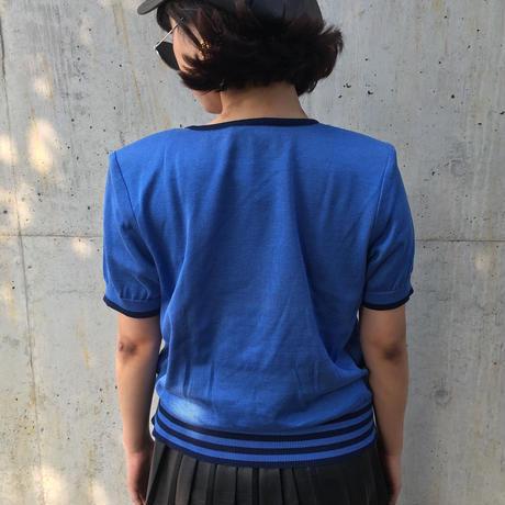 Yves Saint Laurent summer knit blue