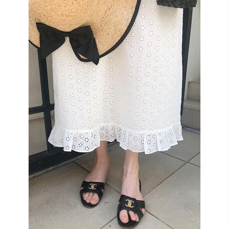 flower lace frill long onepiece
