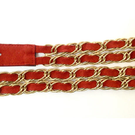 2chain suède belt red