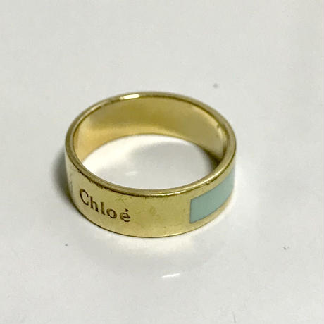 Chloé logo ring royal blue