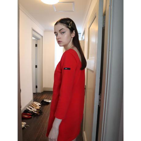 ballerina neck French onepiece red