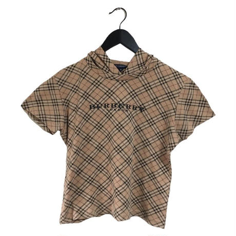 Burberry check design logo tops