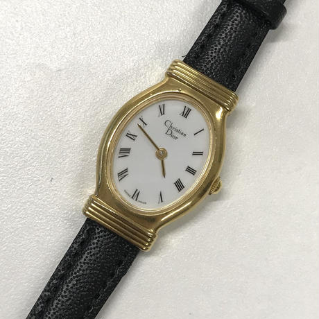 Christian Dior gold frame vintage Watch(No.6281)