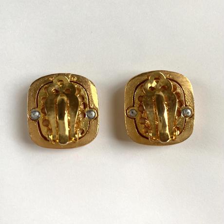 gold frame earring (No.4304)