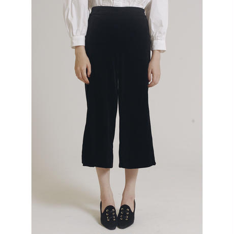 velour slit pants