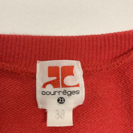 courrèges logo design tee red(No.3124)