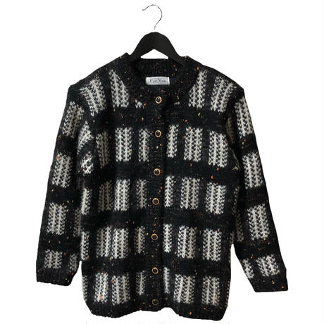 tweed design vintage  knit cardigan