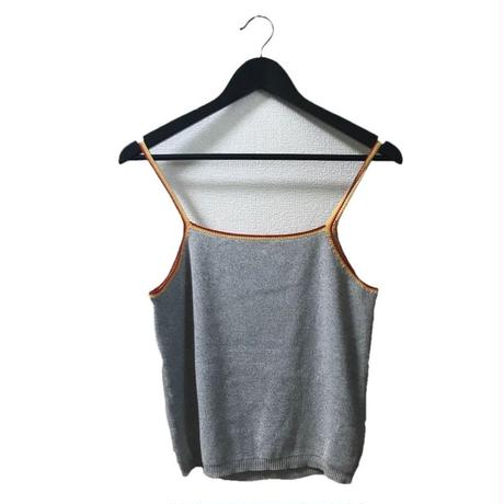 line summer knit camisole gray