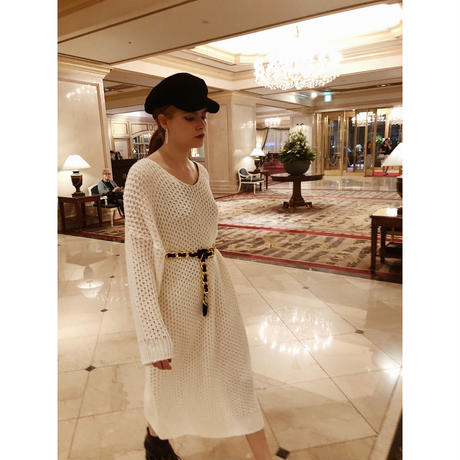 loose long knit one-piece