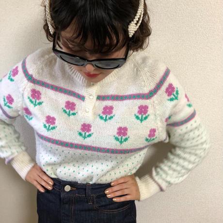 flower design knit