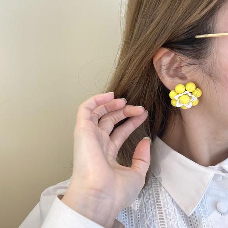 flower motif earring (No.4388)