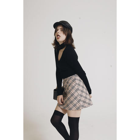 check mini skirtbeige