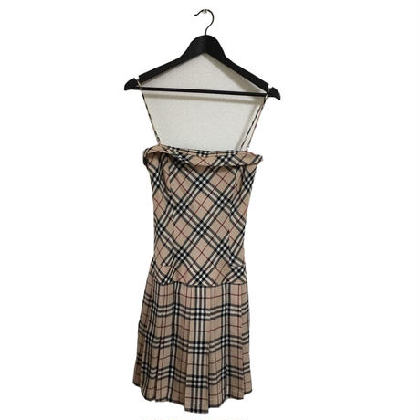 Burberry check design wool one-piece