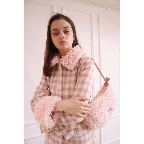 épine label poodle fur bag baby pink