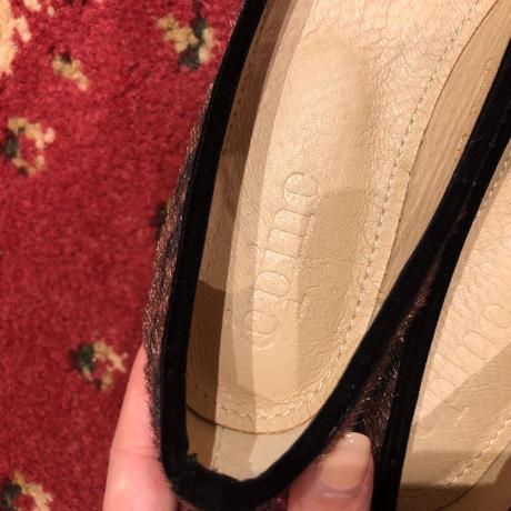 leopard ribbon ballet shoes