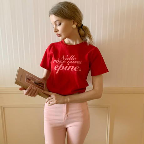 épine logo tee red