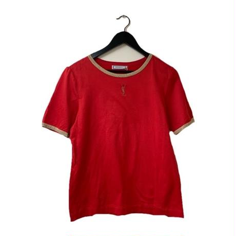 YSL piping design tops red(No.2951)