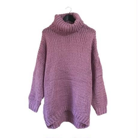 high neck knit onepice