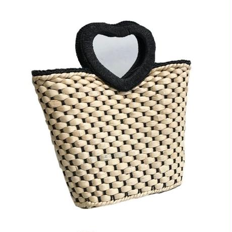 heart motif bucket bag