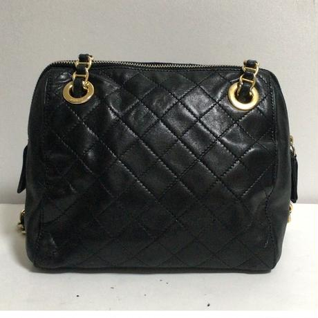 PRADA leather chain bag black