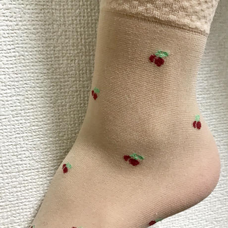 cherry clear socks