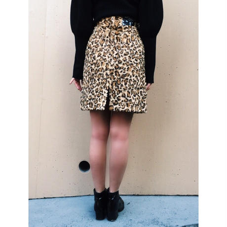leopard fur skirt