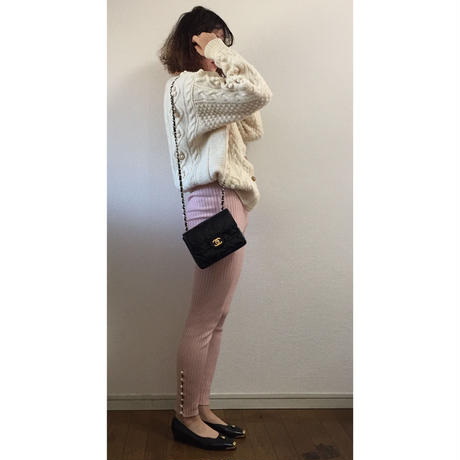 ponpon cable knit cardigan
