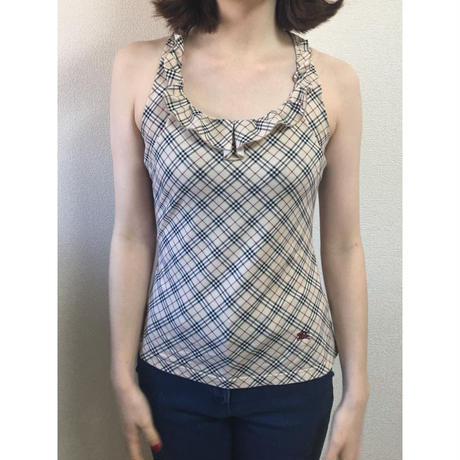 Burberry check design frill tops(No.3032)