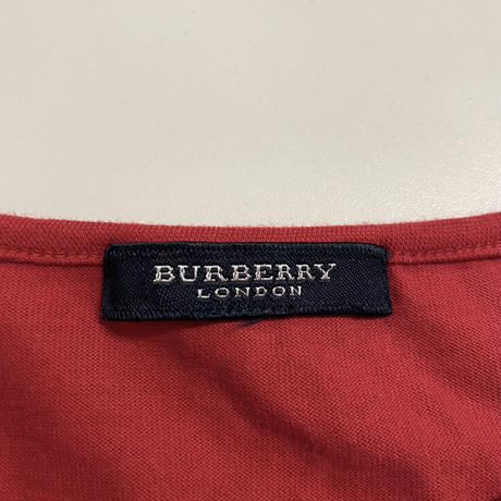 Burberry check tee red (No.4403)