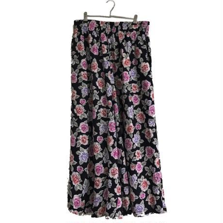 flower design wide pants