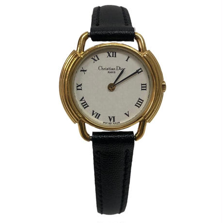Christian Dior  gold frame watch(No.3330)