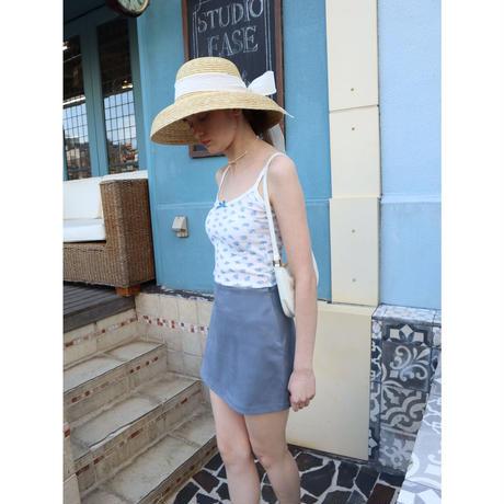 suède mini skirt blue