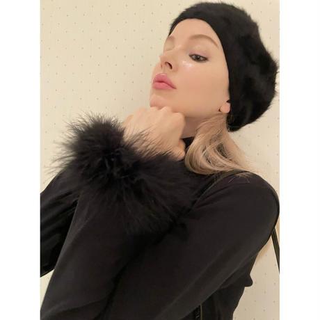fur cotton high neck