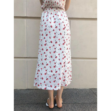 cherry dot straight mermaid skirt