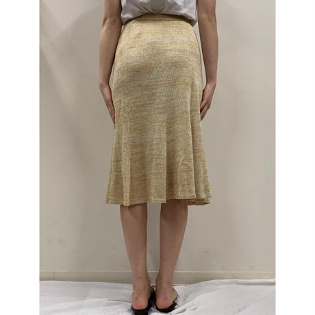 gold glitter flare skirt(No.2807)