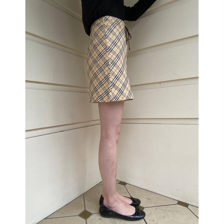 Burberry Check lace-up skirt(No.B2)