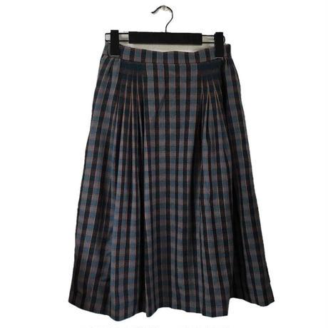 Christian Dior check design tuck skirt