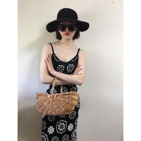 monotone flower crochet design one-piece
