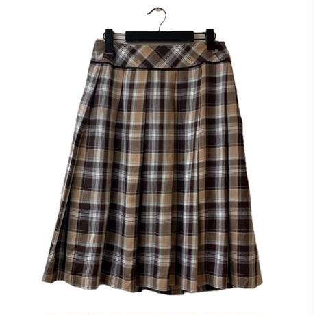 courrèges check design pleats skirt(No.2972)