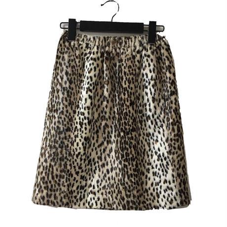 leopard fur skirt