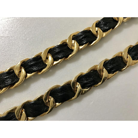 real leather chain belt