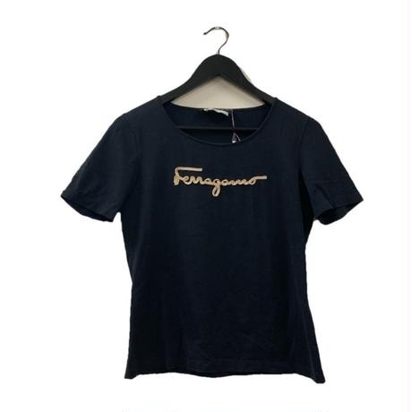 Salvatore ferragamo logo tee black(No.3316)